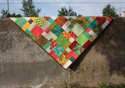 baby patchwork quilt from olivetreetextiles