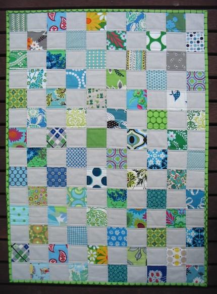 Modern Baby Quilt by Red Pepper Quilts (knitknat)