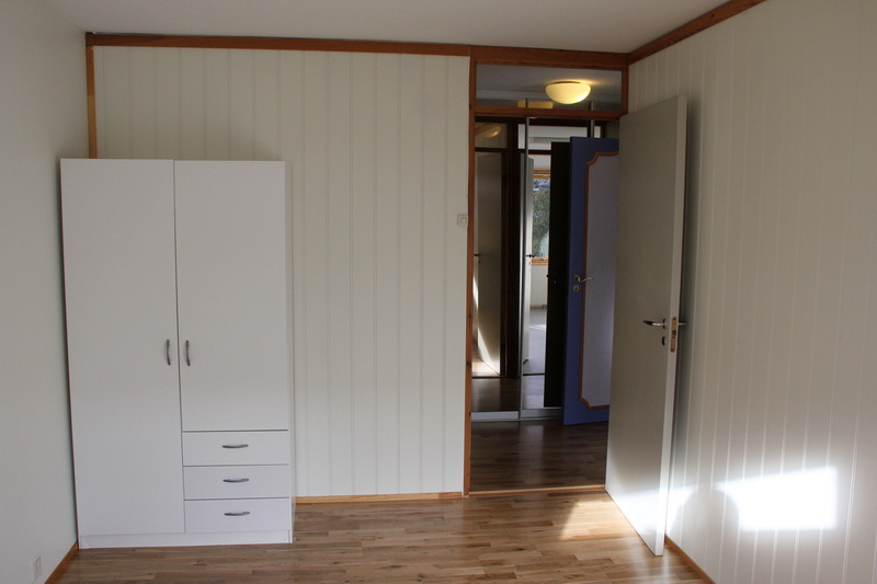 View the other way, into the little hall which will act as a sound barrier to the living room, and has lots of closet space.
