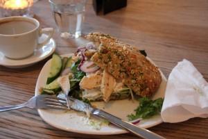 Ciabatta med kylling og tzasiki