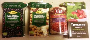 "Not the most inspiring of pictures, but here are the four containers of ""no prep whatever"" ingredients. I like those."