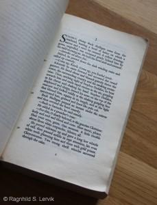 Side 1 av selve romanen